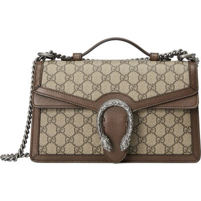Gucci Gg Supreme Canvas Top Handle Bag - Beige