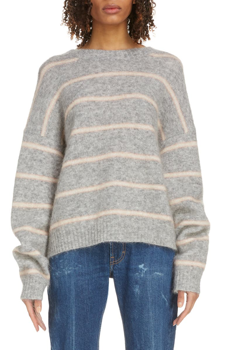 ACNE STUDIOS Khira Wool & Mohair Blend Sweater, Main, color, GREY/ BEIGE