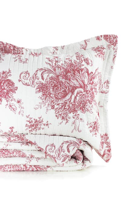 Image of Melange Home Toile Cotton Quilt 3-Piece Set - King/Cal King
