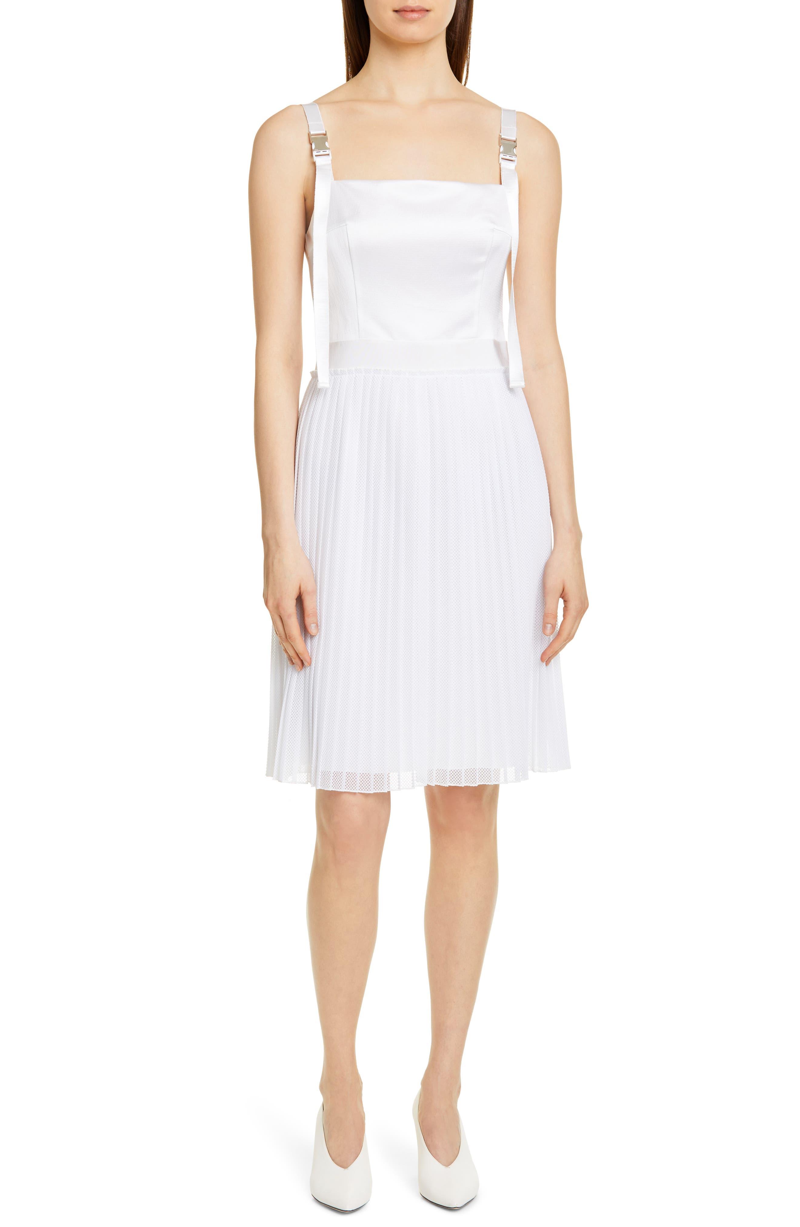 Hugo Kaplissa Clip Buckle Dress, White
