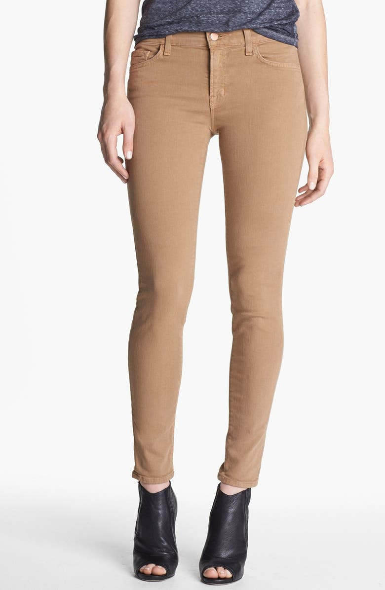 J BRAND Overdyed Skinny Leg Jeans, Main, color, 261