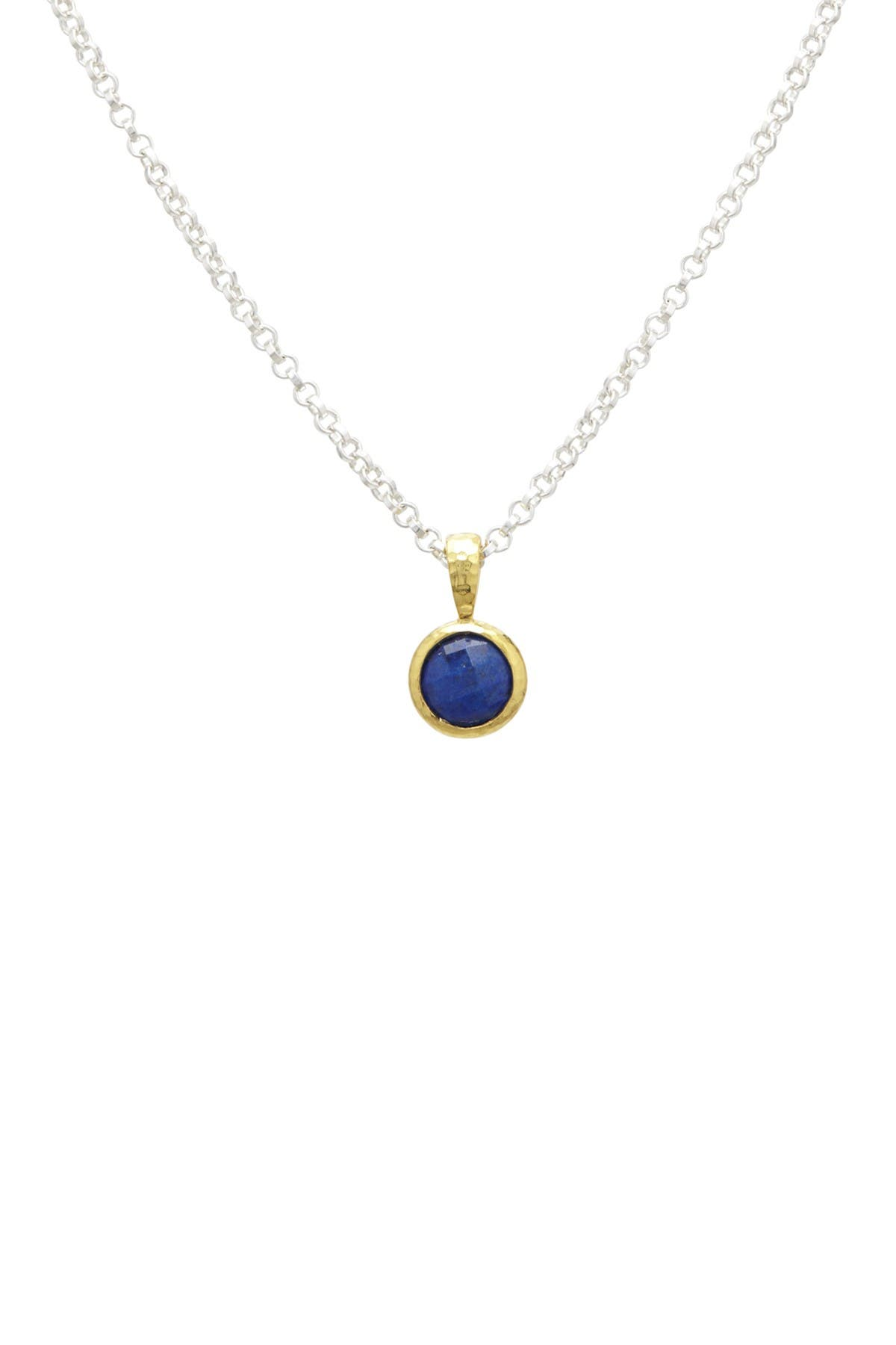 Image of Gurhan Pendant Necklace With Checkerboard Cut Lapis