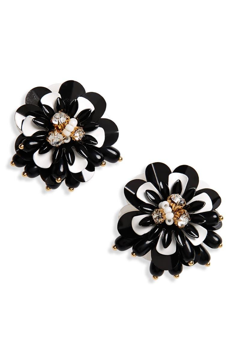 KATE SPADE NEW YORK vibrant life statement earrings, Main, color, 006