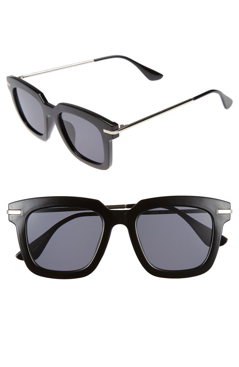 BP. Square 50mm Sunglasses, Main, color, 001