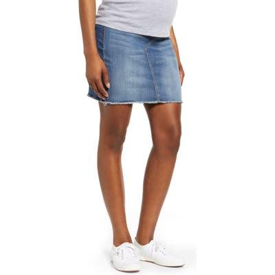 1822 Denim Maternity Denim Miniskirt, Blue