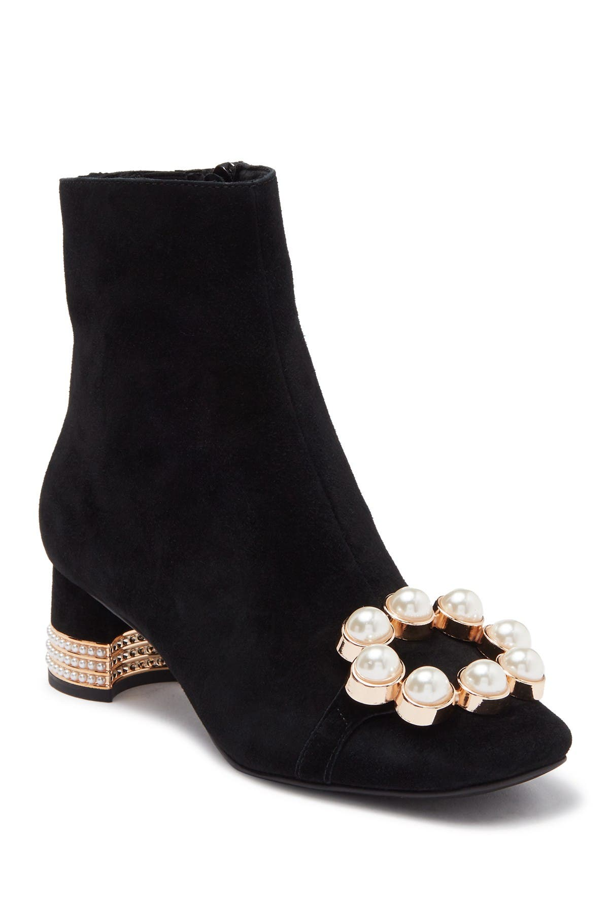 Image of Jeffrey Campbell Imitation Pearl Toe Embellished Bootie
