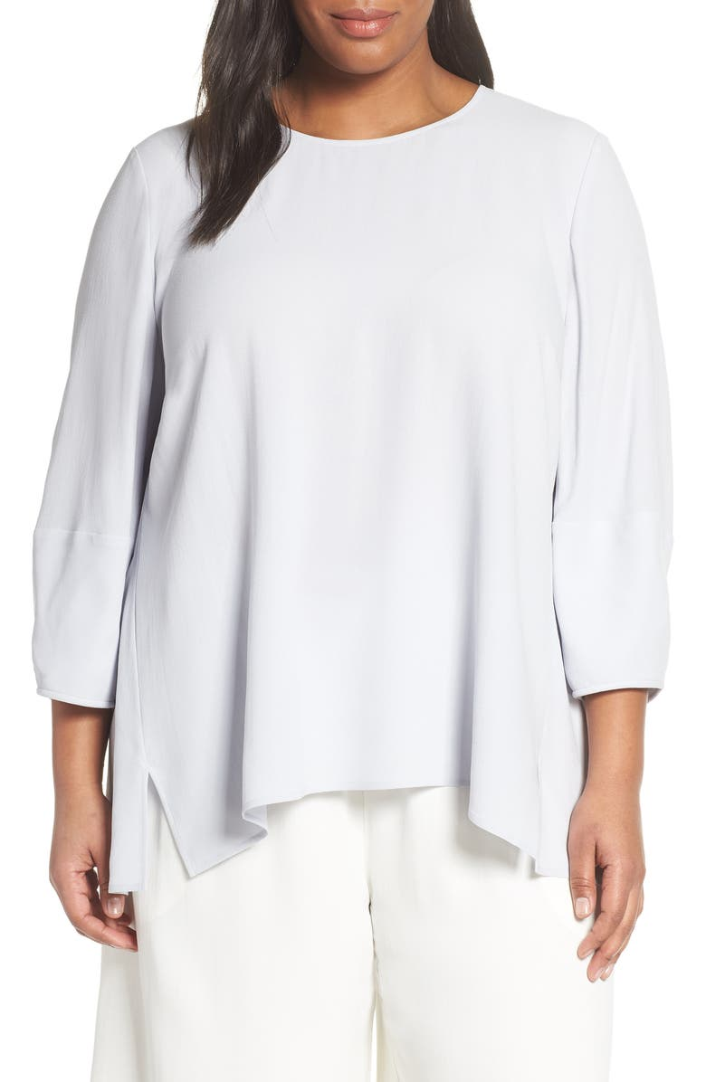 EILEEN FISHER Boxy Silk Blouse, Main, color, 453