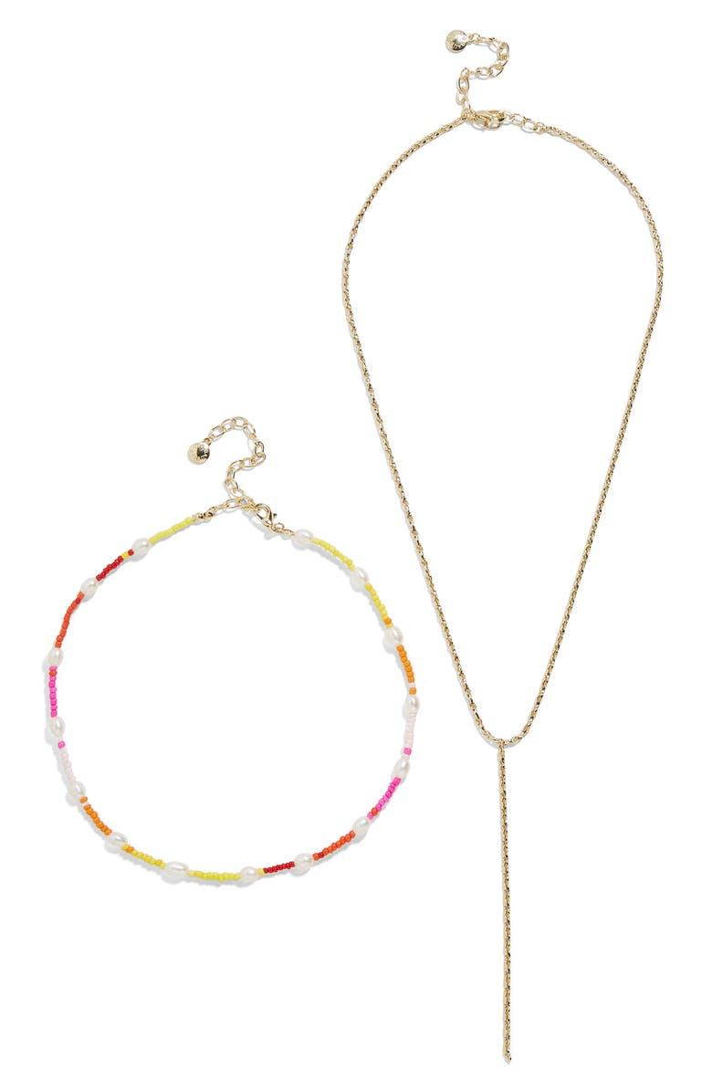 BAUBLEBAR Dina Set of 2 Necklaces, Main, color, GOLD MULTI