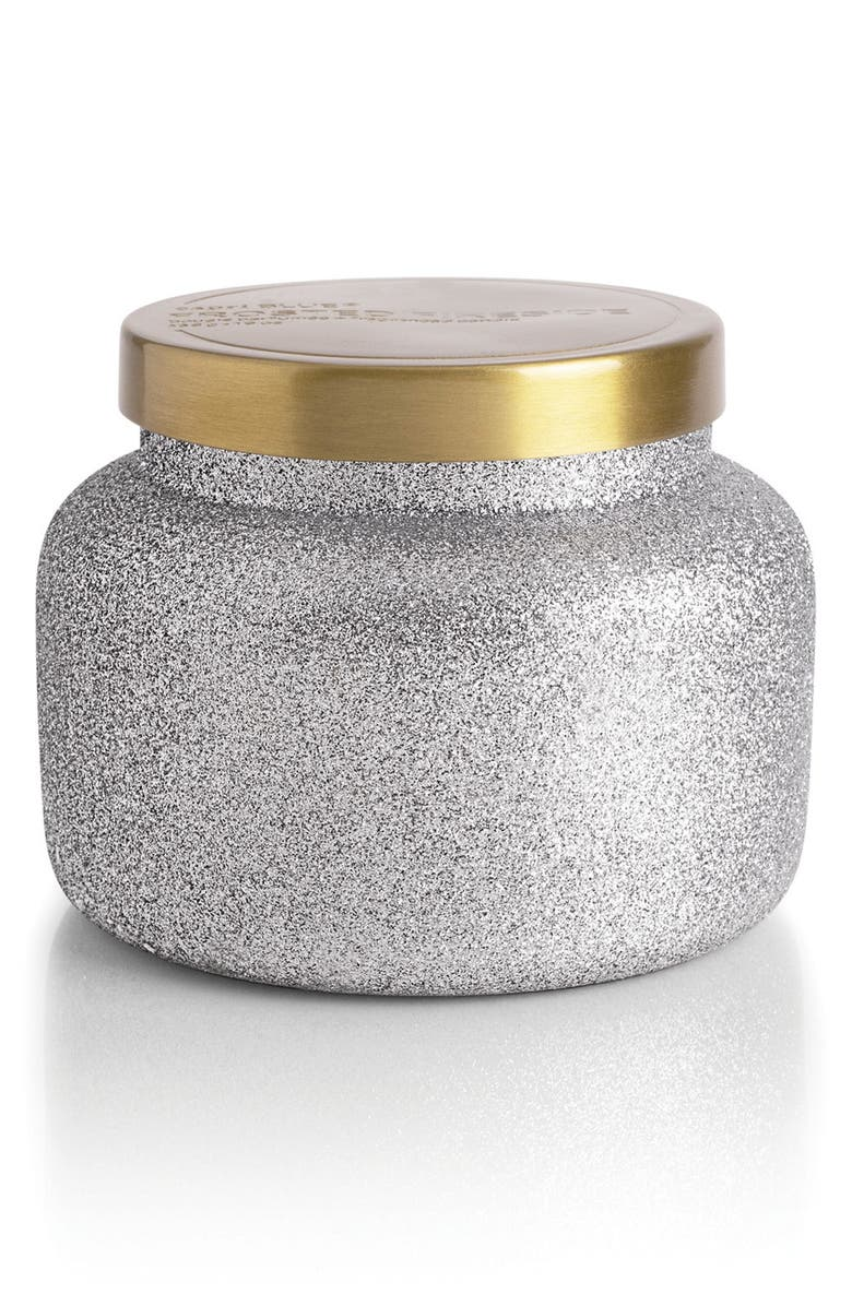 CAPRI BLUE Glam Jar Candle, Main, color, FROSTED FIRESIDE