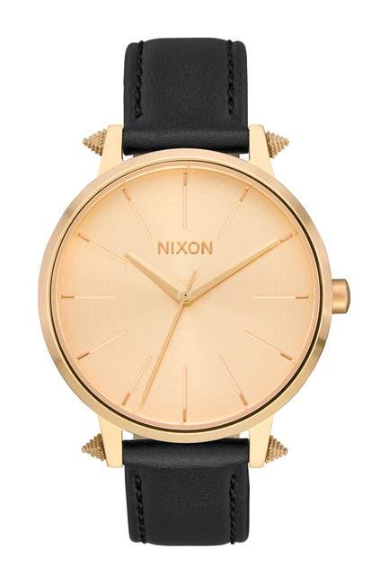Image of Nixon Women's Kensington Leather Strap Watch, 37mm