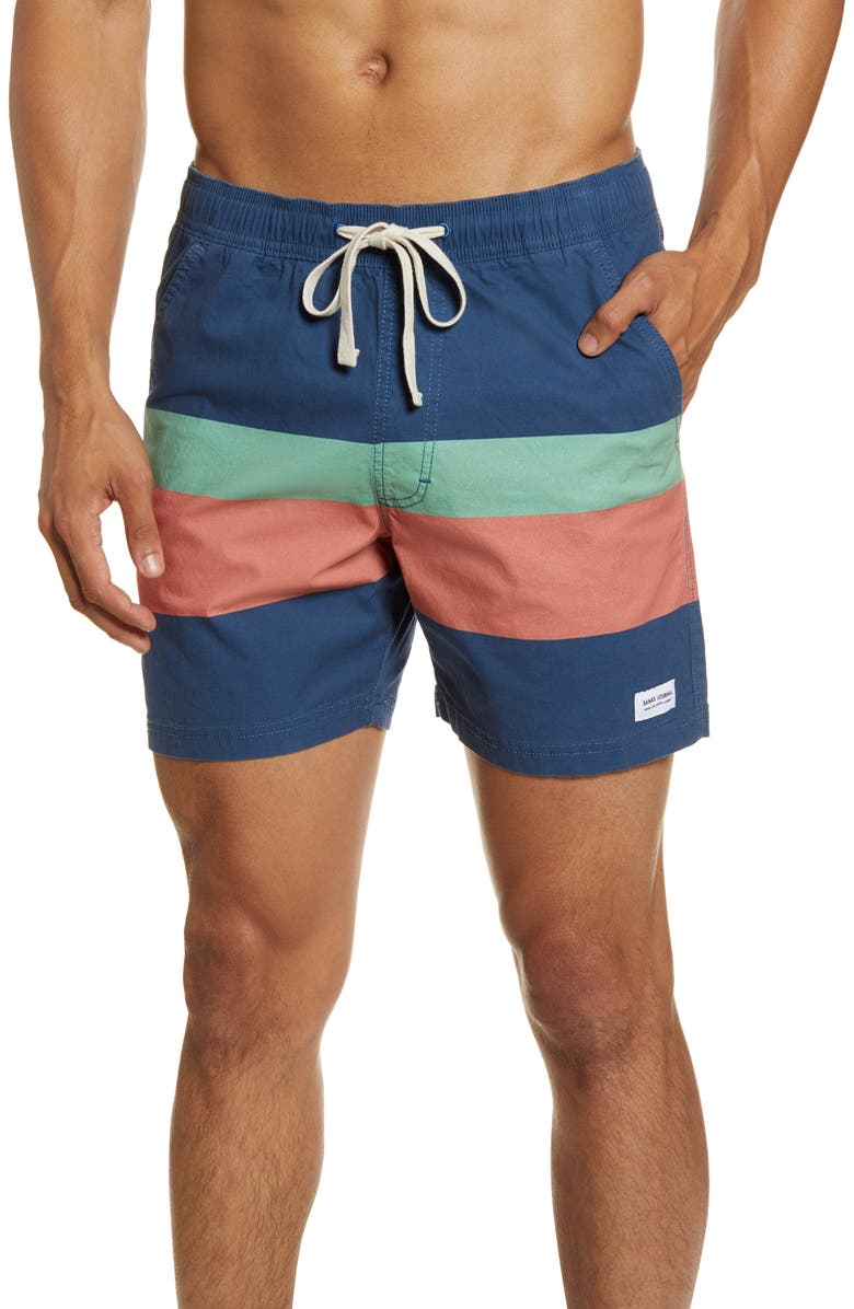 BANKS JOURNAL Trigger Swim Trunks, Main, color, ISB- INSIGNIA BLUE