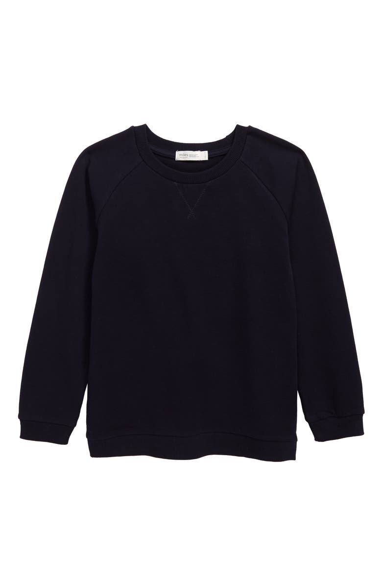 MILES baby Sweatshirt, Main, color, NAVY