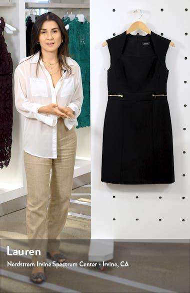 Scuba Crepe Sheath Dress, sales video thumbnail