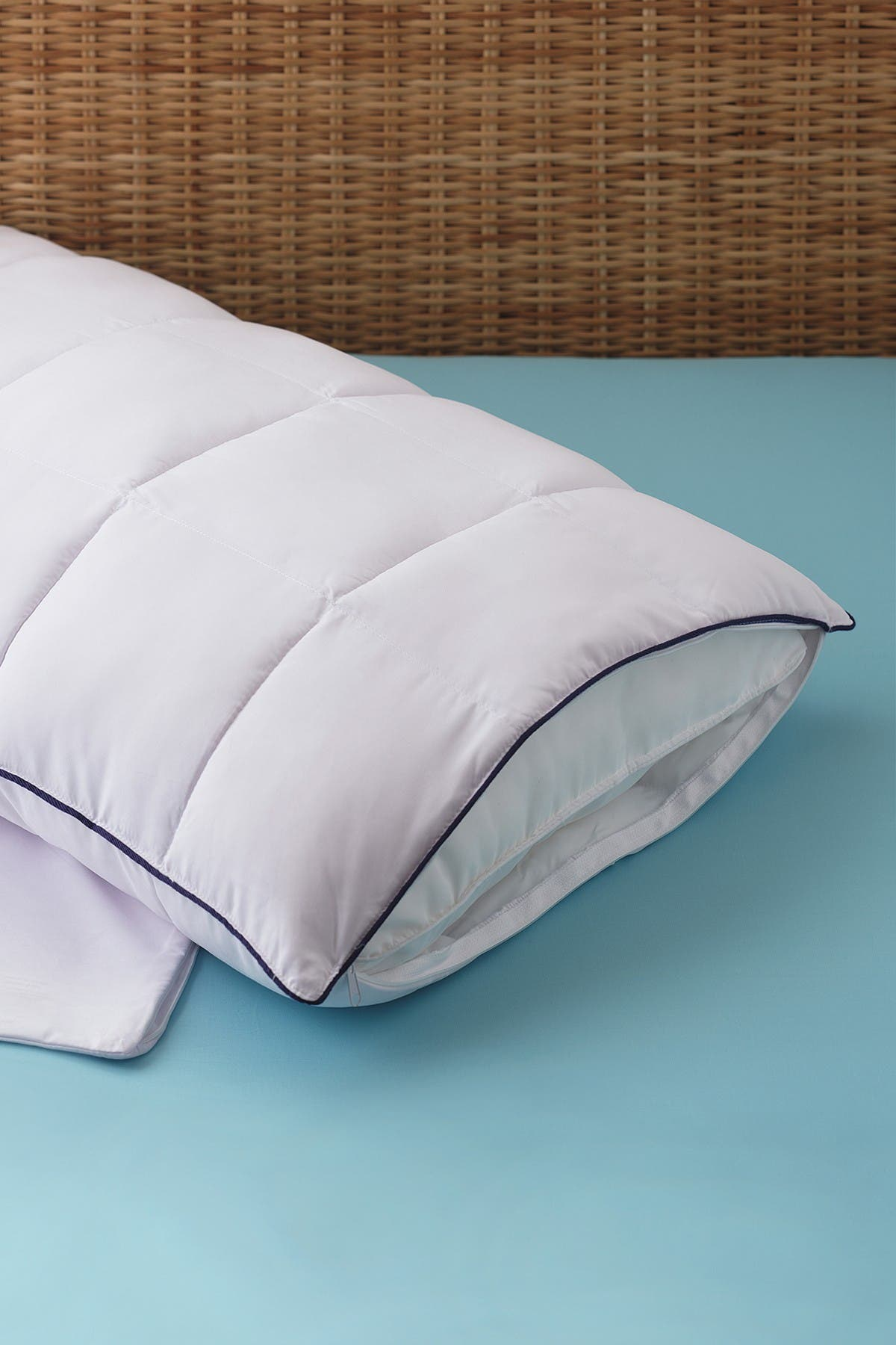 Image of Allied Home Premium MicronOne King Allergen Barrier 2-in-1 Pillow Enhancer and Travel Pillow