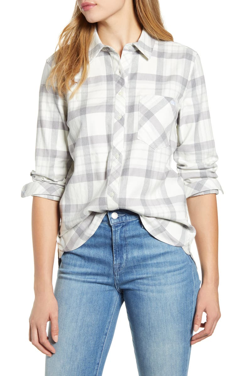 VINEYARD VINES Bluffs Plaid Flannel Shirt, Main, color, BLUFFS PLAID SILVER FOX HEATH