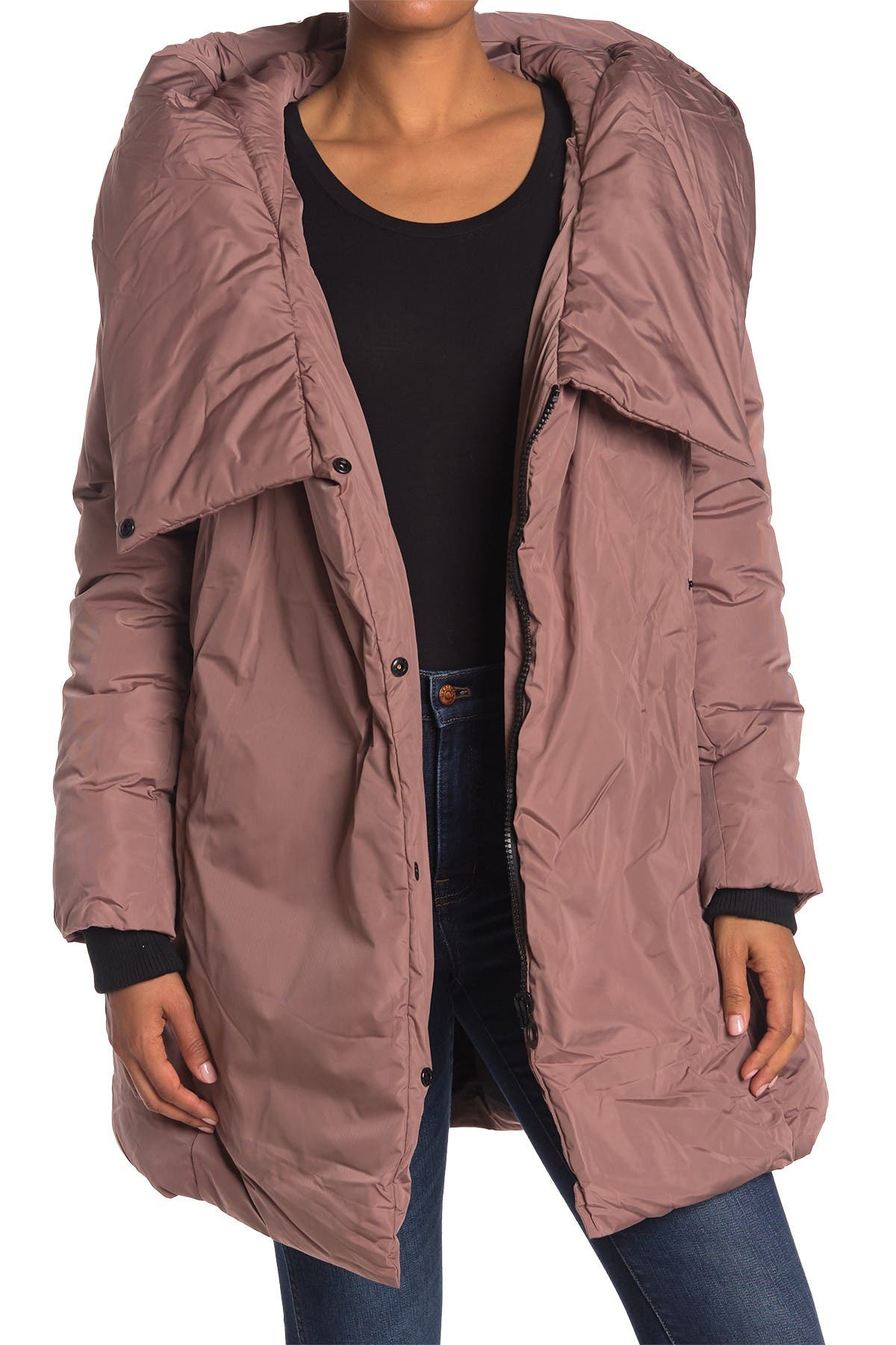 Image of NOIZE Venice Hooded Belted Puffer Parka