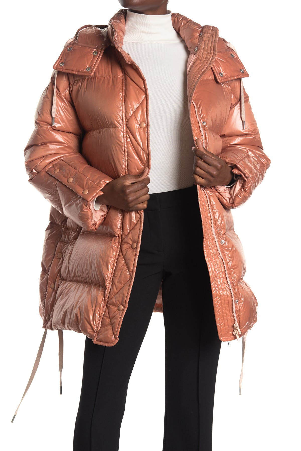 Red Valentino Down Puffer Jacket In Nudo 377