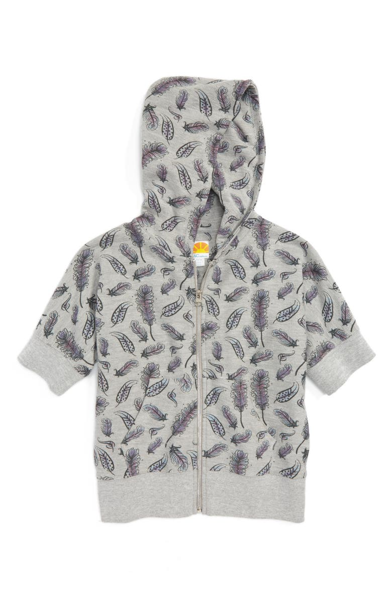 C & C CALIFORNIA Feather Graphic Hoodie, Main, color, 023