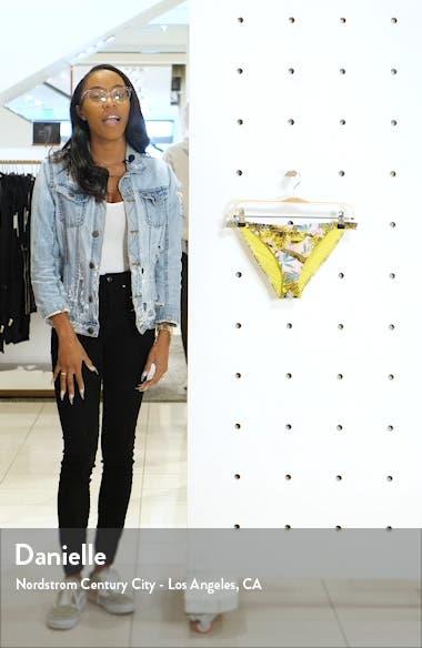 IDOL Tropical Print Tanga Bikini Bottoms, sales video thumbnail