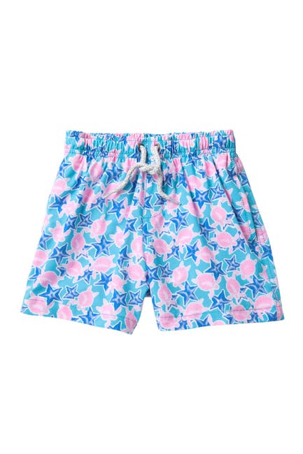 Image of Vintage Summer Turtle & Star Fish Swim Shorts
