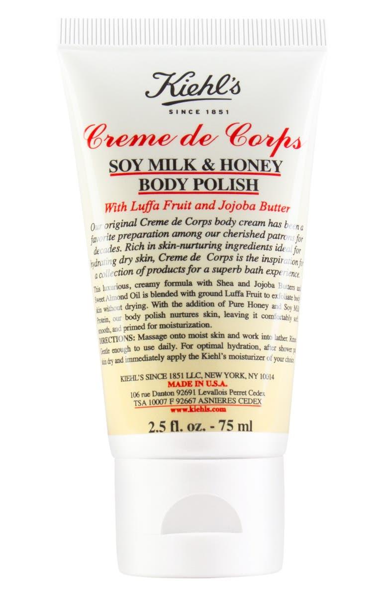 KIEHL'S SINCE 1851 'Creme de Corps' Soy Milk & Honey Body Polish, Main, color, 000