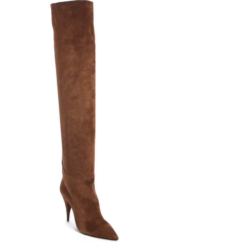 SAINT LAURENT Kiki Over the Knee Boot, Main, color, LAND