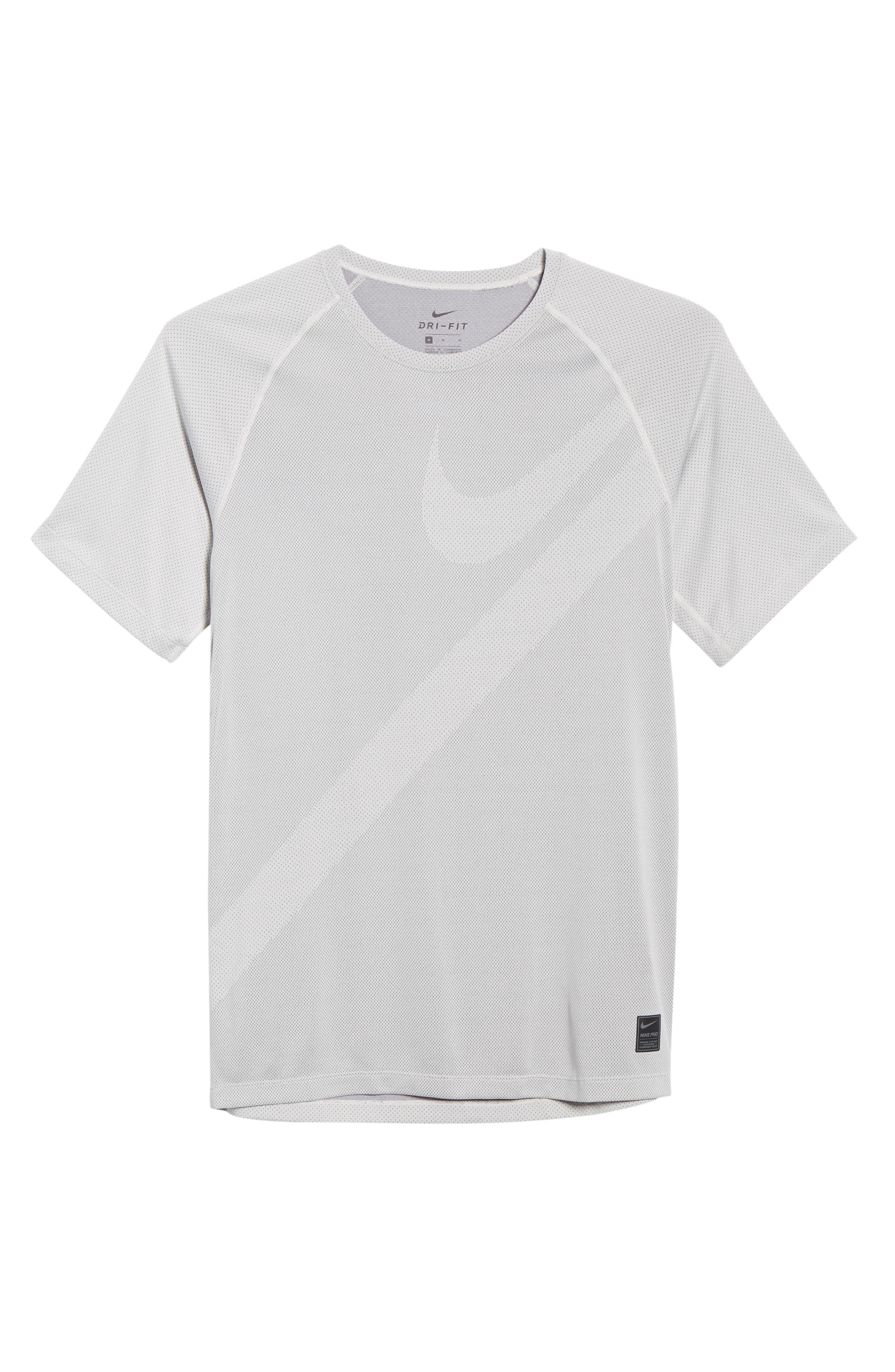 ,                             Pro Dri-FIT Perforated T-Shirt,                             Alternate thumbnail 6, color,                             VAST GREY/ GUNSMOKE/ VAST GREY