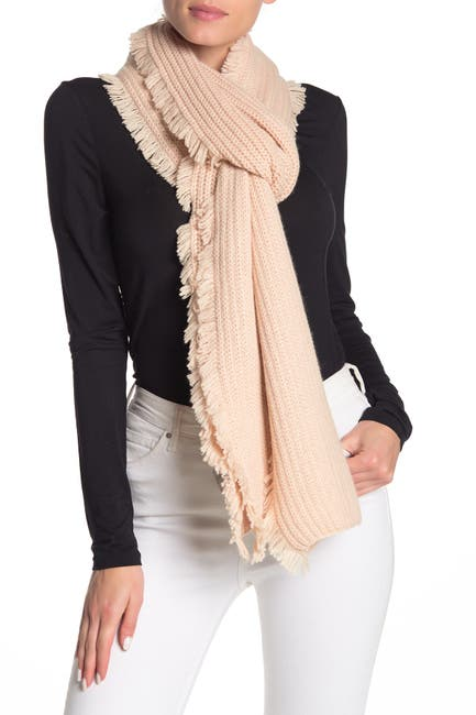 Image of UGG Side Fringe Knit Scarf