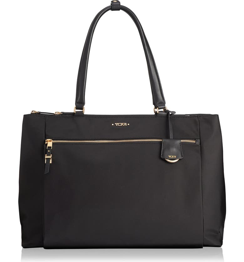 TUMI Voyageur Sheryl Nylon Business Tote, Main, color, BLACK