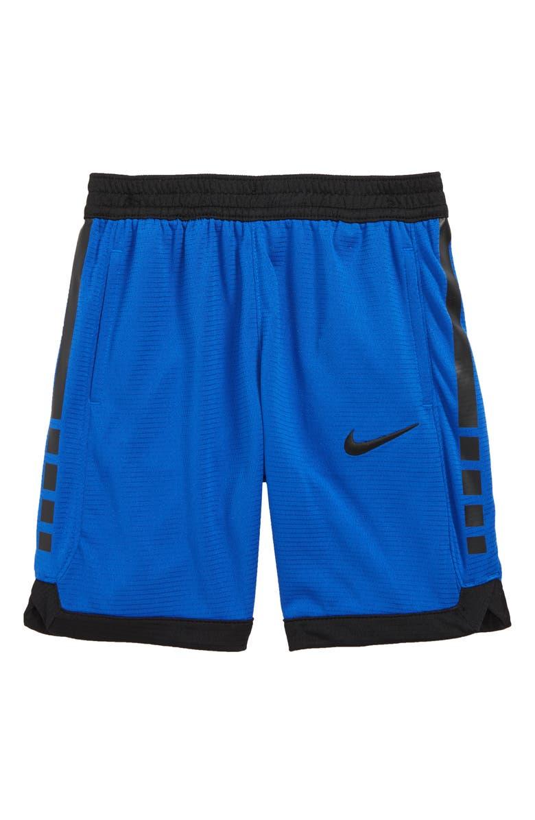NIKE Dry Elite Stripe Athletic Shorts, Main, color, GAME ROYAL