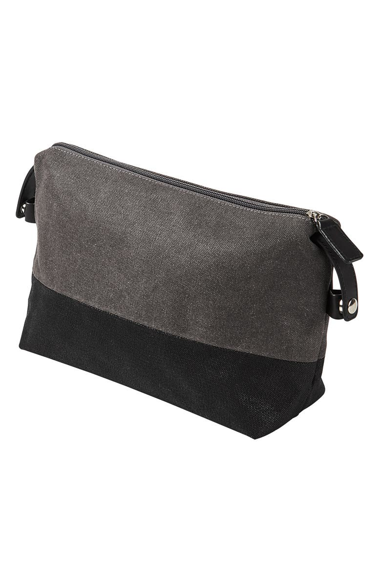 CATHY'S CONCEPTS Monogram Travel Kit, Main, color, GREY