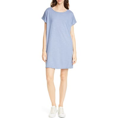 Eileen Fisher Hemp & Organic Cotton Knit Shift Dress, Blue