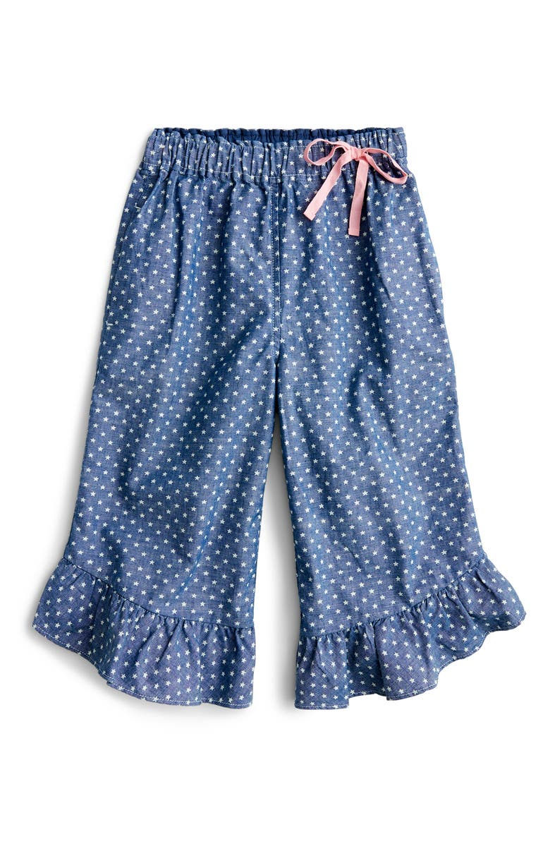 CREWCUTS BY J.CREW Chambray Stars Pull-On Pants, Main, color, TWINKLE STARS INDIGO IVORY