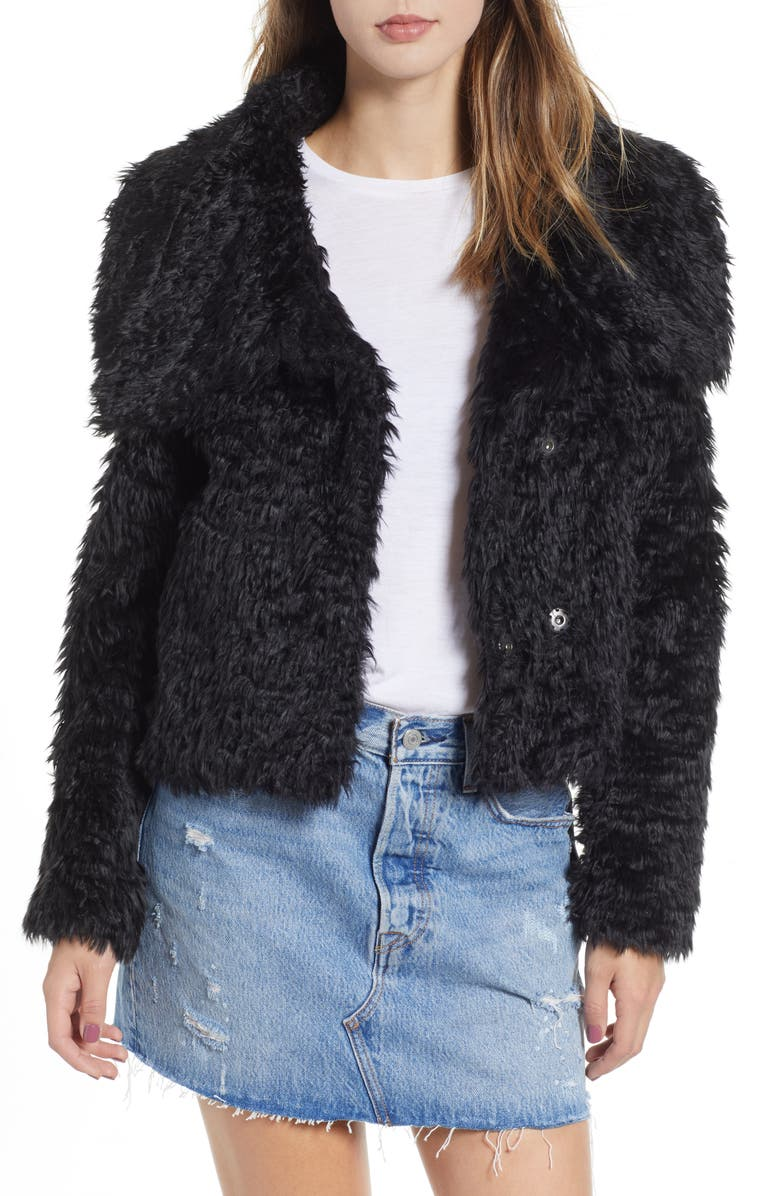 LIRA CLOTHING Carter Faux Fur Jacket, Main, color, 001