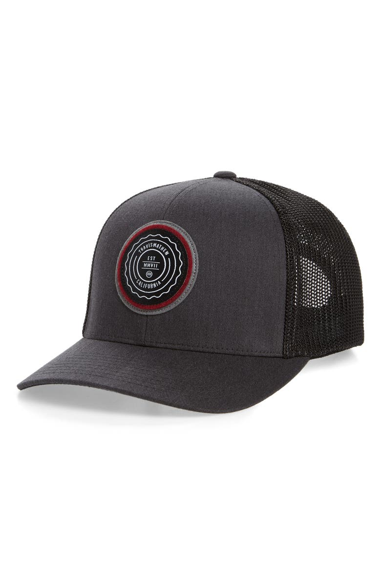 TRAVISMATHEW The Patch Trucker Hat, Main, color, 021