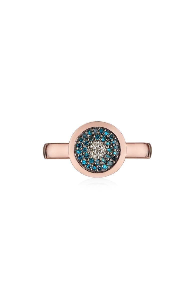 MONICA VINADER Evil Eye Diamond Ring, Main, color, ROSE GOLD/ BLUE DIAMOND