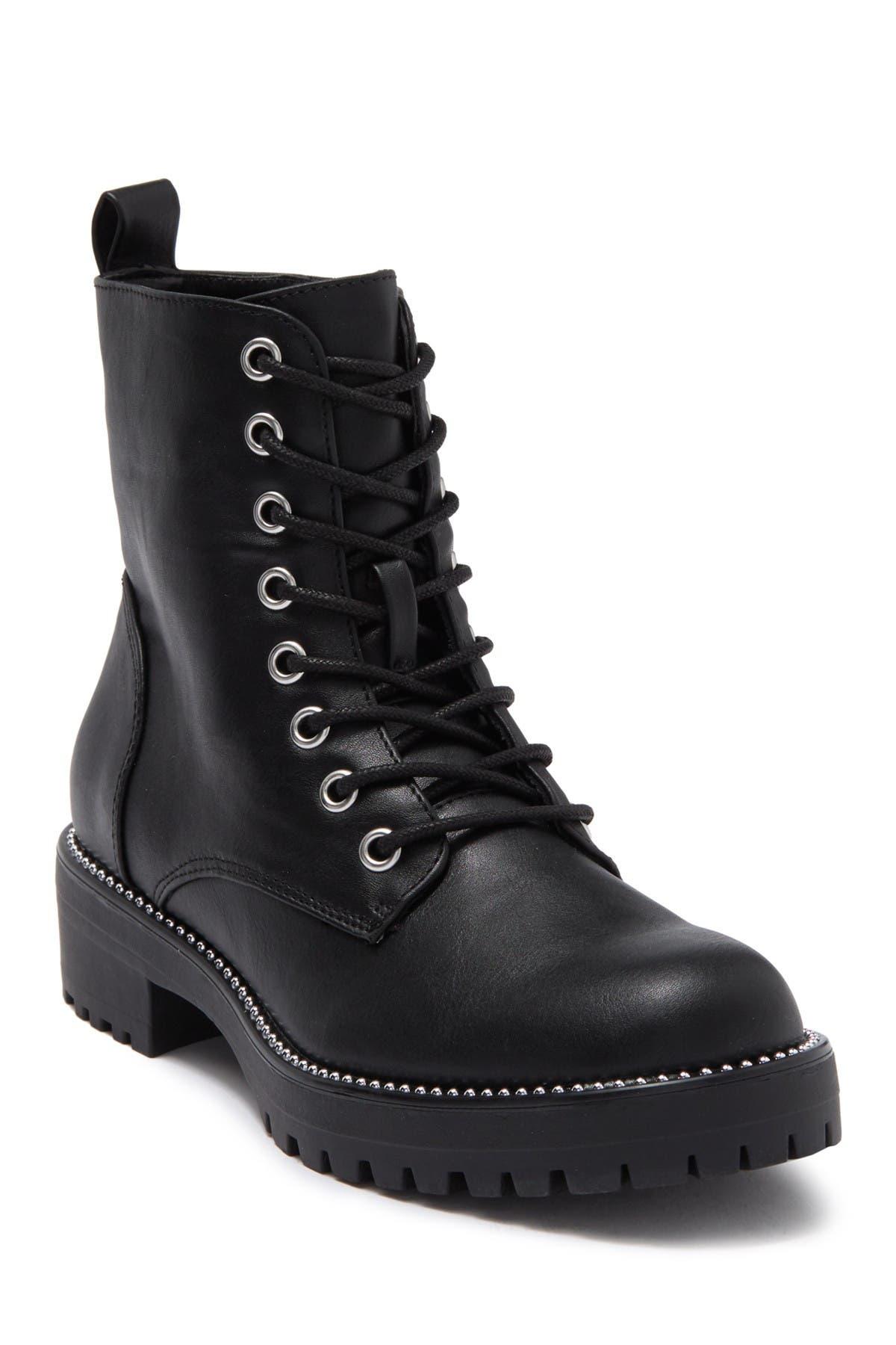 Report | Block Heel Combat Boot