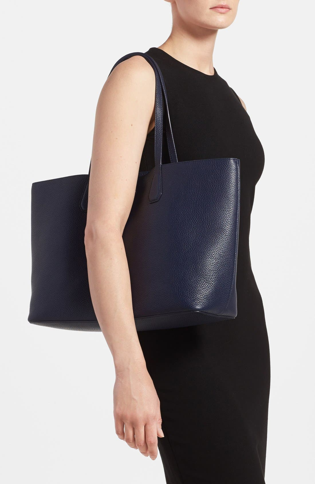 ,                             'Perry' Leather Tote,                             Alternate thumbnail 18, color,                             400