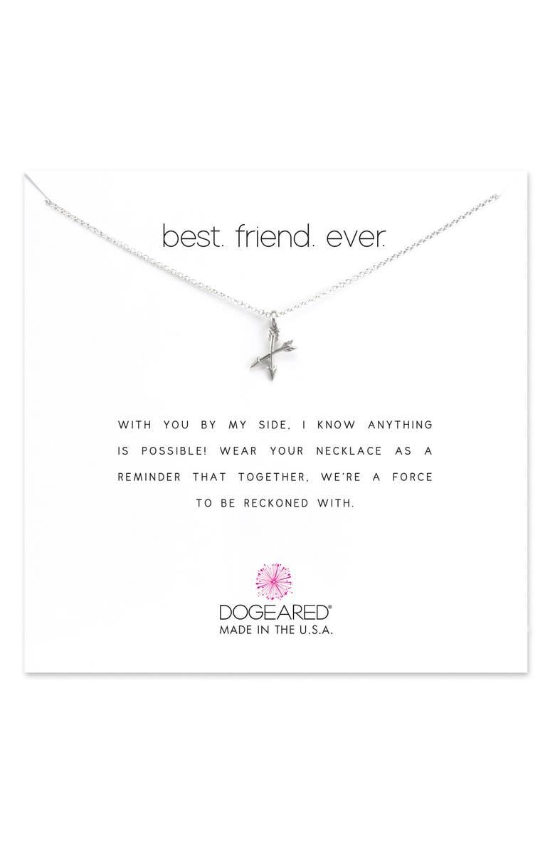 DOGEARED Best Friend Ever Pendant Necklace, Main, color, 042