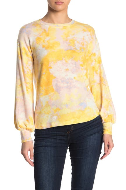 Image of Socialite Brushed Tie Dye Print Sweatshirt