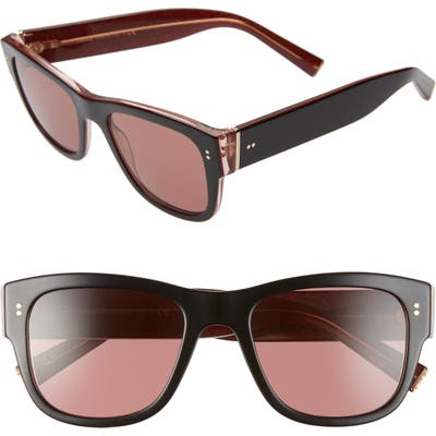 Dolce & gabbana 52Mm Tinted Square Sunglasses - Black/ Red Solid