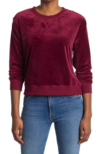 Image of ROW A Velour Long Sleeve Lounge Top