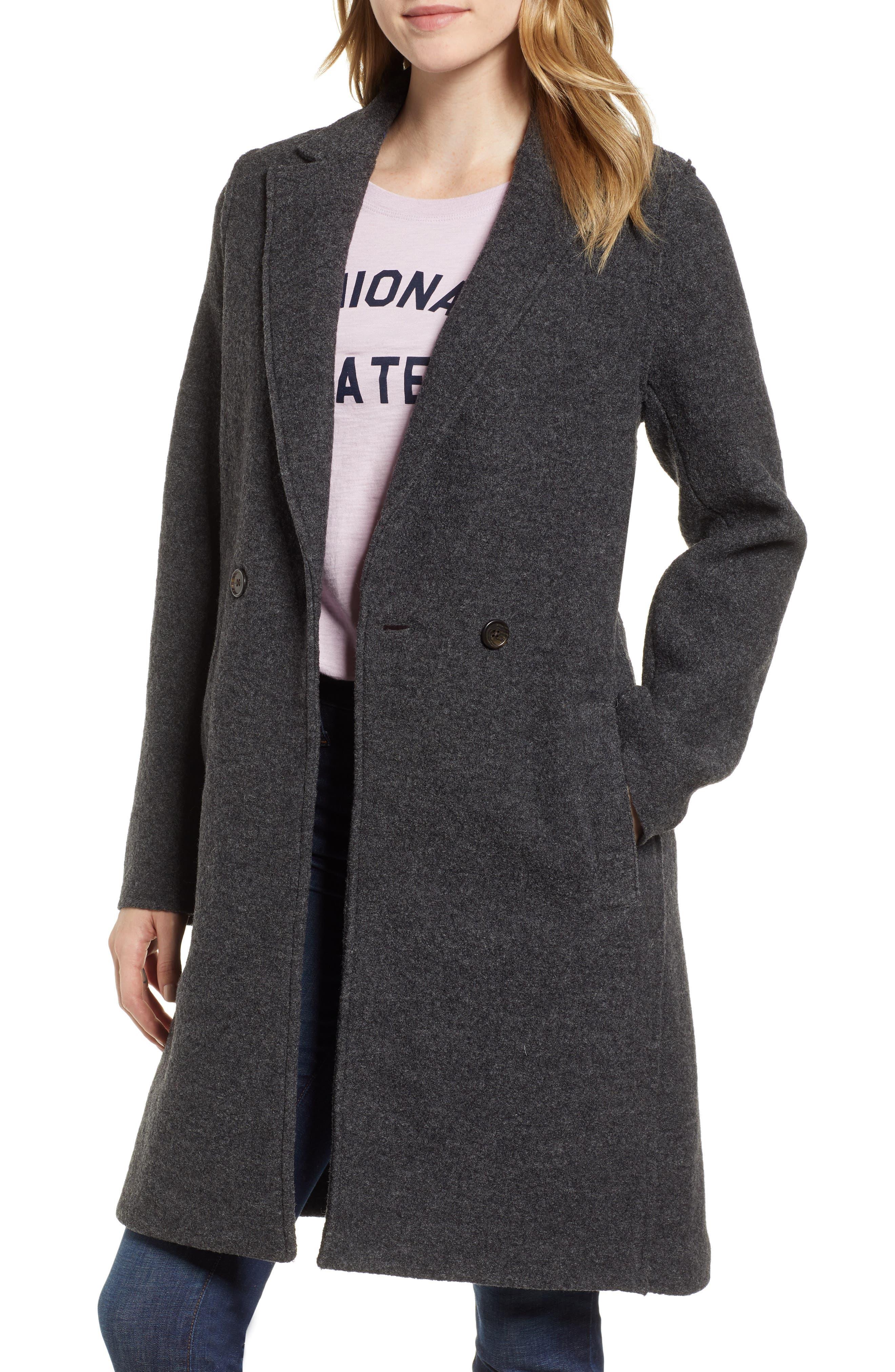 ,                             Daphne Boiled Wool Topcoat,                             Main thumbnail 8, color,                             022