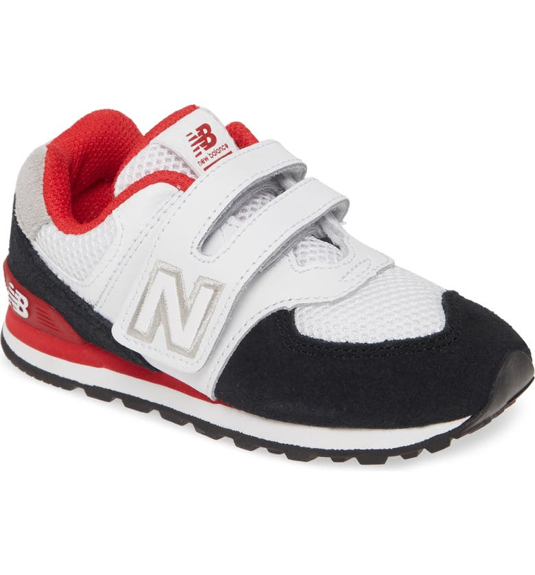 NEW BALANCE 574 Summer Sport Sneaker, Main, color, BLACK/ TEAM RED