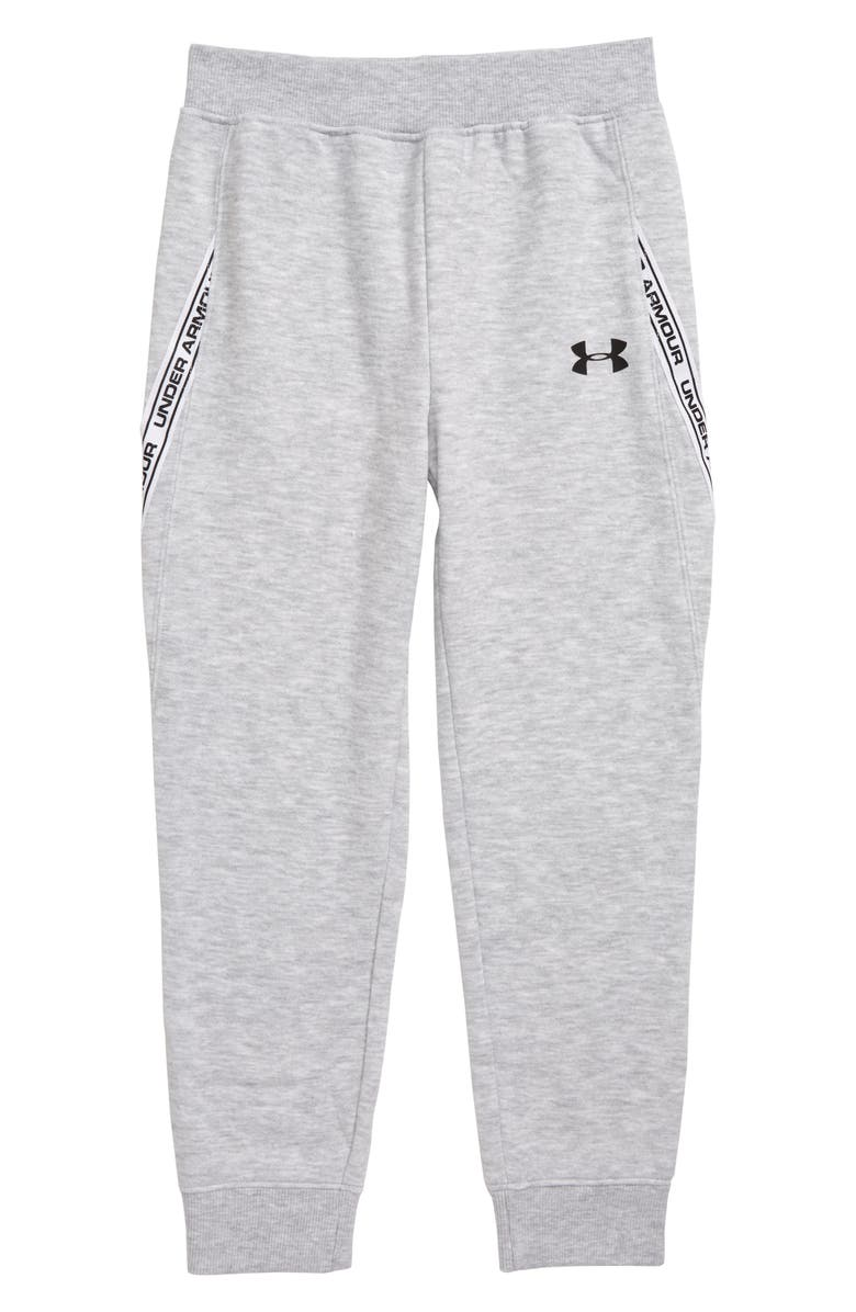 UNDER ARMOUR Taped Jogger Pants, Main, color, MOD GREY HEATHER