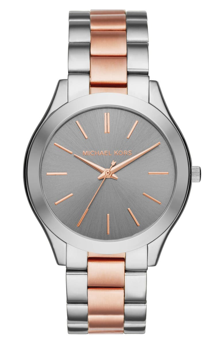 MICHAEL KORS 'Slim Runway' Bracelet Watch, 42mm, Main, color, 049