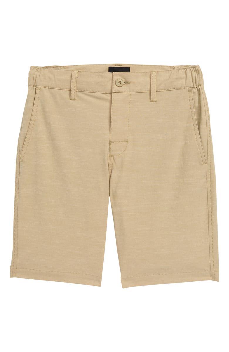 RVCA All Time Coastal SOL Hybrid Shorts, Main, color, KHAKI