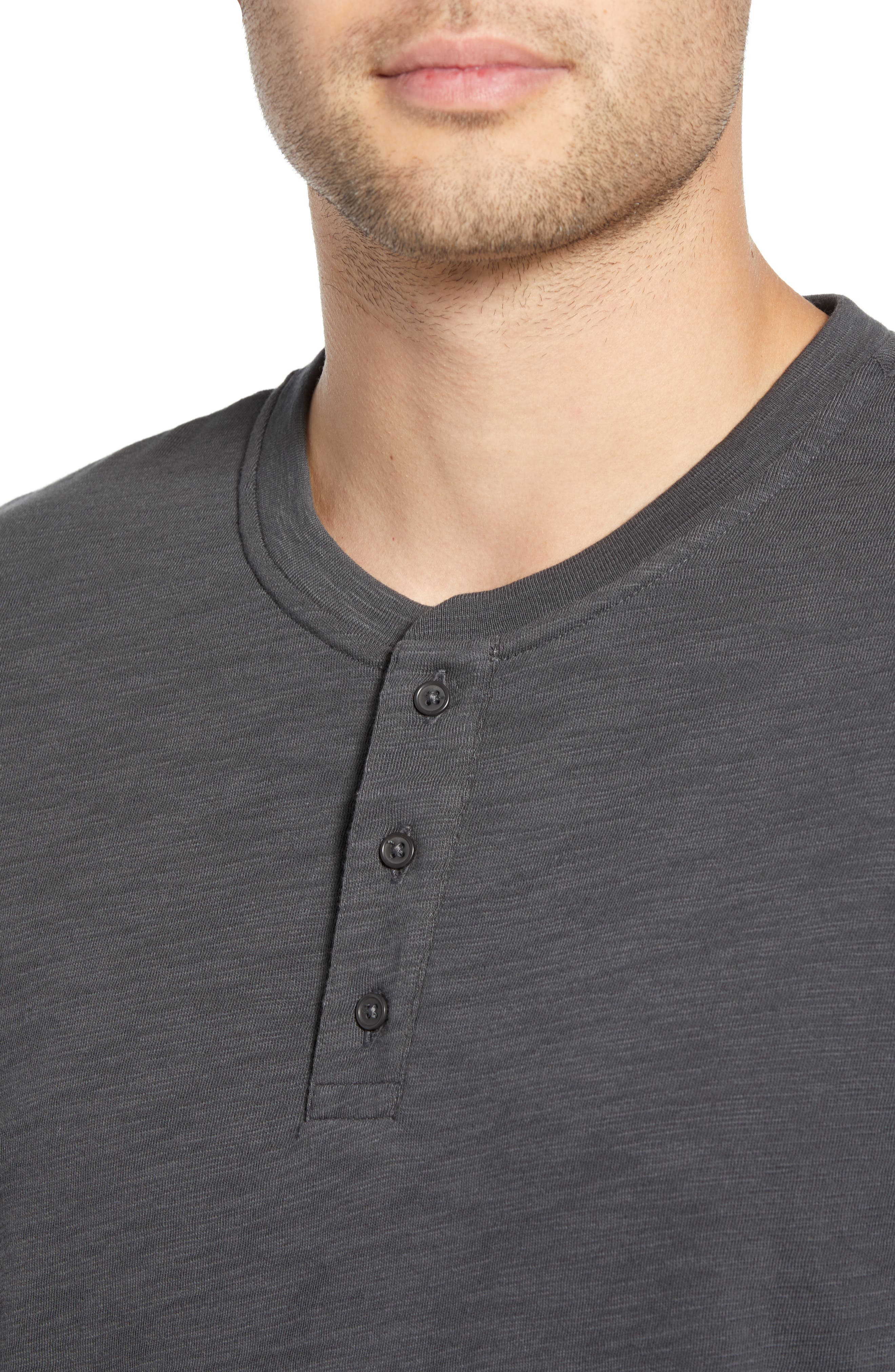,                             Slim Fit Slub Knit Henley,                             Alternate thumbnail 4, color,                             SPHERE