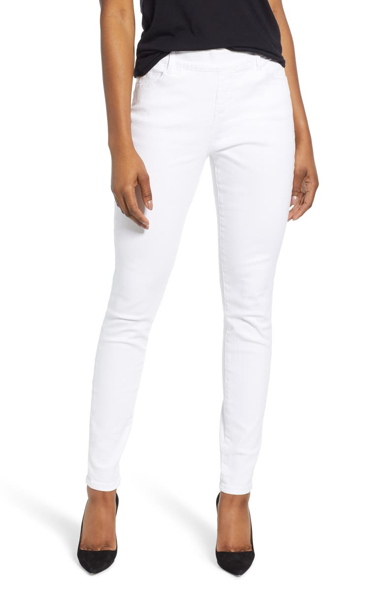 JAG JEANS Bryn Pull-On Skinny Jeans, Main, color, WHITE