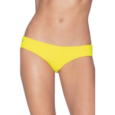 Maaji Sublime Texture Signature Cut Reversible Bikini Bottoms, Yellow